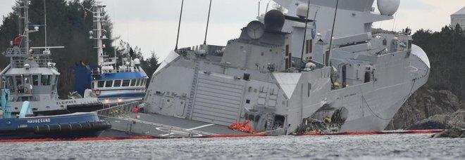 Norvegia, collisione in un fiordo tra una fregata e una petroliera