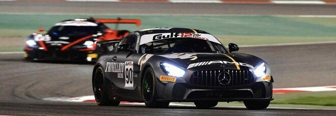 La Mercedes-AMG GT4 di Trivellato Racing che ha vinto la 12 ore del Golfo