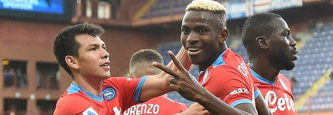 Napoli, la quinta sinfonia con la Samp: ancora 4-0 ed è di nuovo primo posto