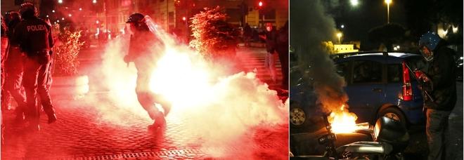 Roma, bombe carta e scontri a piazza del Popolo: la polizia disperde i manifestanti