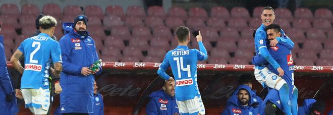 Due gol e tre pali, è show Napoli: Callejon e Milik piegano la Lazio