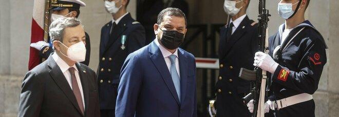 Draghi, incontro con il premier della Libia: si parla di migranti ed energie rinnovabili