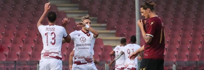 Salernitana, che fatica con le big: una sola vittoria nel girone di ritorno