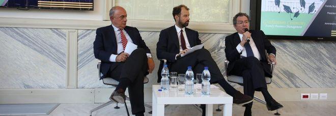 A sinistra Lorenzo Pellicioli, al centro Fabio Corsico, a destra Gian Maria Gros-Pietro