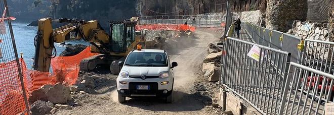 Portofino, riaperta la strada distrutta dopo la mareggiata