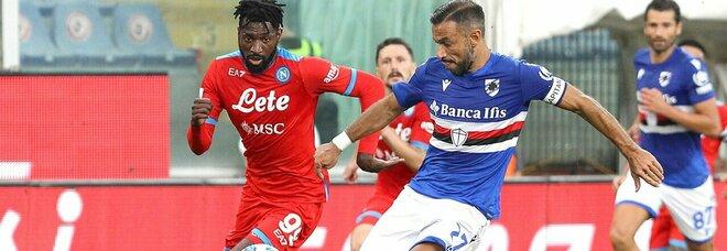 Sampdoria-Napoli, Anguissa è super: Rrahmani e Koulibaly insuperabili
