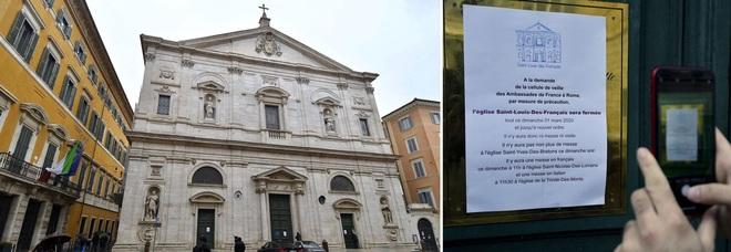 Coronavirus, chiusa chiesa San Luigi dei Francesi a Roma: ha accolto sacerdote francese risultato poi contagiato