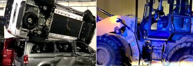 La vendetta dell'operaio licenziato: distrugge 50 furgoni con una ruspa, arrestato
