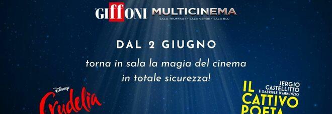 Riapre Giffoni Multicinema, in sala con «Crudelia» e «Il cattivo poeta»