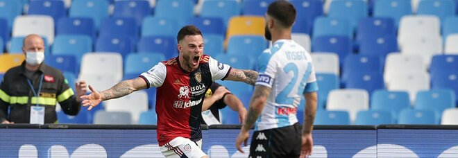 Napoli-Cagliari 1-1, che beffa al 94': Osimhen illude, Nandez pareggia