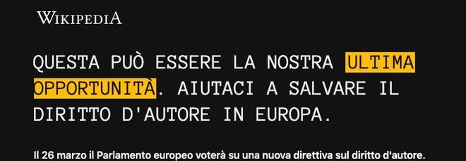 Wikipedia non si apre, pagina in italiano oscurata: «Colpa di una legge»