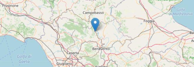 Terremoto a Benevento nella notte: sciame sismico con magnitudo 2.5
