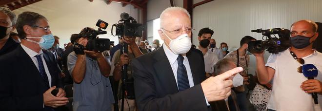 Covid in Campania, le stime di De Luca: «L'immunità raggiunta entro ottobre»