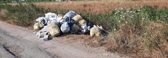 Sversa rifiuti in campagna: beccato dalle fototrappole