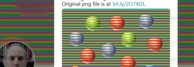 Di che colore sono le sfere? L'illusione ottica che costringe il cervello a inventare i colori diventa virale