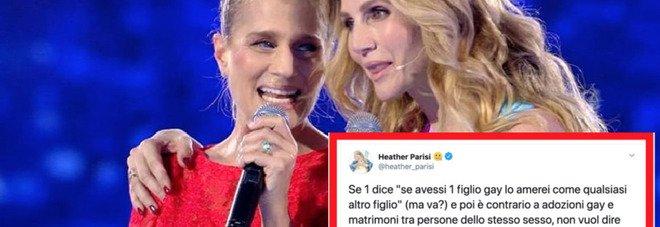 Heather Parisi risponde a Lorella Cuccarini: «Omofobo e ipocrita chi è contro matrimoni gay»