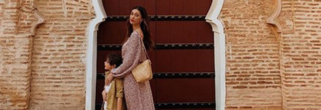 Belen Rodriguez e il figlio Santiago nel post di Stefano De Martino su Instagram
