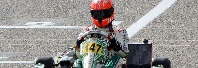 Schumacher sulla pista dei kart e Sarno va in delirio