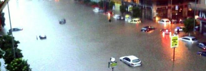 Roma finisce sott'acqua (foto Francesco Toiati)