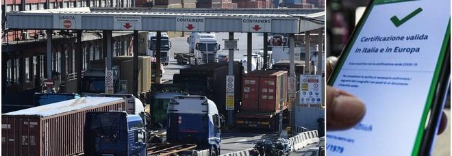 Green pass, protesta di porti e tir. Ma il governo non si ferma