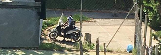 Scooter all'interno del parco