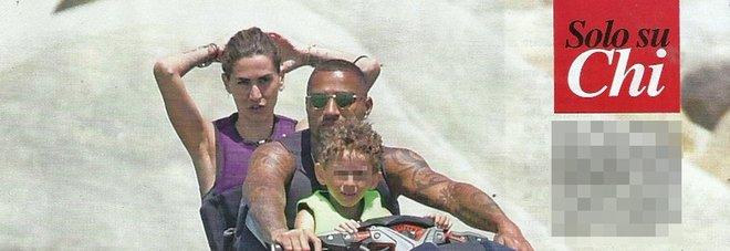 Melissa Satta, Kevin Boateng e il figlio Maddox in Sardegna (Chi)