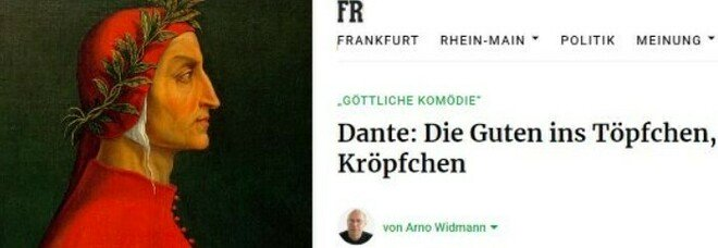 Dante, un giornale tedesco all'attacco: «L'Italia ha poco da festeggiare, era un plagiatore»