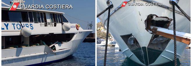 Traghetto contro yacht alle Eolie, cinque feriti. «La nave non ha rispettato la precedenza»