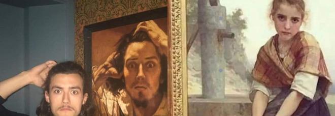 Quando vai in un museo d'arte e trovi una certa somiglianza, la photogallery che diverte il web