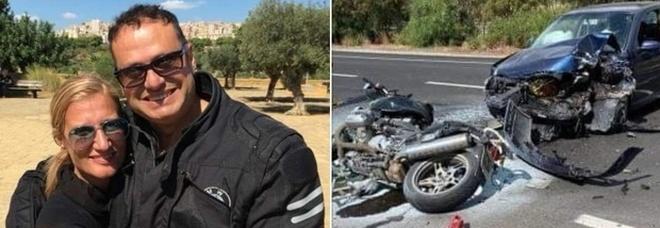 Incidente tra auto e due moto, morti carabiniere e moglie. Comandante dei vigili in fin di vita