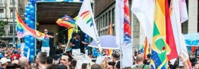 nella foto un gay pride