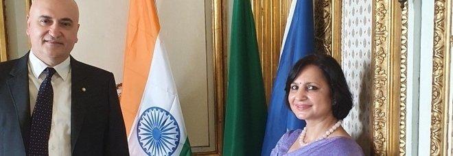 Università Orientale, protocollo tra il rettore Tottoli e l'ambasciatrice Neena Malhotra
