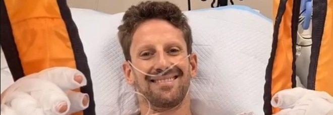 F1, Grosjean in ospedale dopo l'incidente: «Sto bene». Solo ustioni, nessuna frattura. L'impatto avvenuto a 221 Km/h