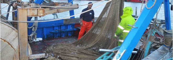 Le reti con cui i pescherecci di Fiumicino hanno catturato 20 chili di plastica al giorno