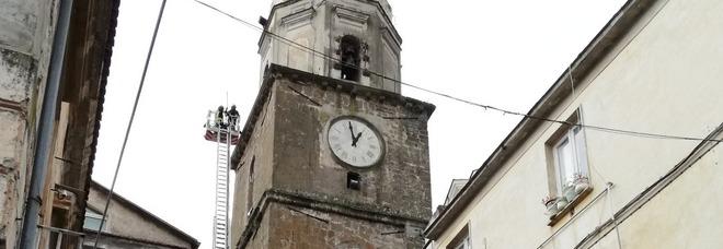 Scossa in Molise, a Teano crolli dal campanile