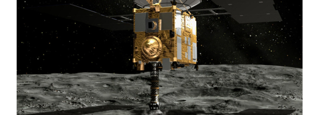 La sonda Hayabusa a guida italiana spara all'asteroide Ryugu e raccoglie campioni Video E Israele va sulla Luna