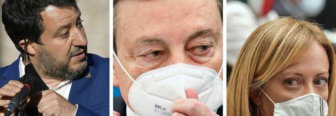 Stato di emergenza, Salvini e Meloni contro la proroga di Draghi