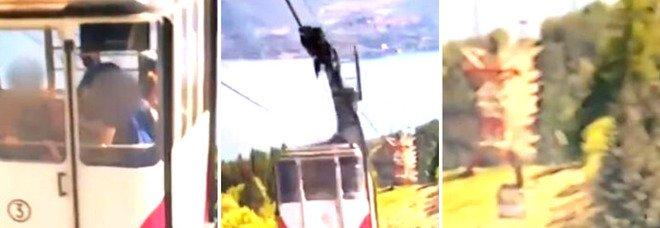 Tragedia Mottarone: le scioccanti immagini della caduta della cabina riprese da una telecamera