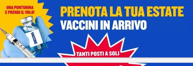 Ryanair, la promozione sui voli estivi: «Vaccino, una punturina e prendi il volo»