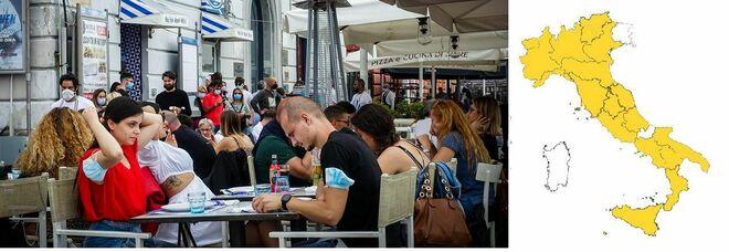 Riaperture ristoranti: a tavola «massimo in 4» anche in zona bianca, così prenotazioni e distanze