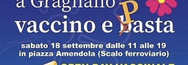 Gragnano, appuntamento in piazza: pasta in omaggio con i vaccini