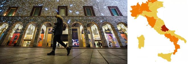 Le regioni cambiano di nuovo colore Umbria, Marche ed Emilia tornano gialle Iss: tre aree ad alto rischio