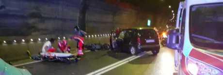 Incidente in galleria, quattro feriti: chiusa la Sorrentina verso Napoli