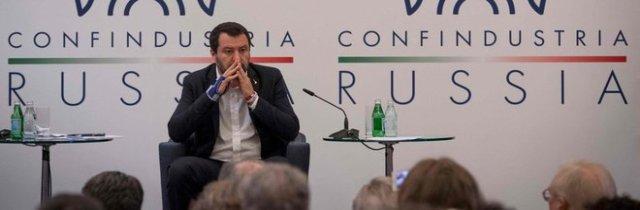 Salvini a Mosca alleato di Putin: «Basta con le sanzioni Ue»
