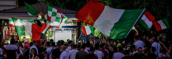 Italia campione d'Europa, Da Trieste in giù tutti a cantare l inno della vittoria