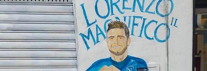 Napoli, nuovo murales per Insigne: il capitano con Maradona e Mertens