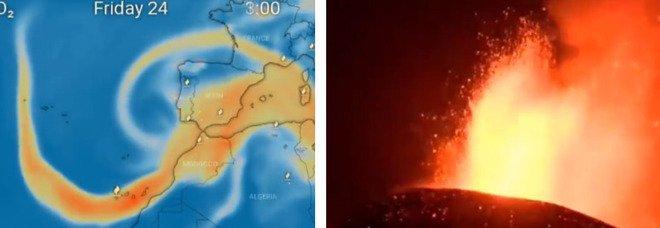 Vulcano Canarie, nube di anidride solforosa verso l'Italia, compagnia aerea sospende i voli