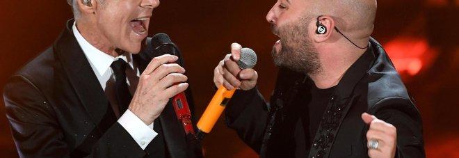 Sanremo, emoziona il duetto Sangiorgi-Baglioni in Poster
