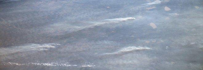Amazzonia, Parmitano twitta foto: «Il fumo visibile dallo spazio»
