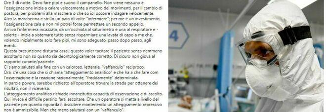Covid, paziente (zittito dall'infermiera) su Fb: «Se crepo guardateci chiaro». E muore a 68 anni
